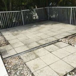Patio after Pressure Washing